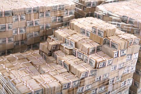 Pallets of $100 bills
